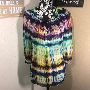 Trina Turk tye dye blouse
